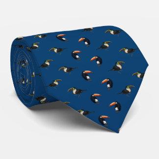 Cravate de frénésie de toucan (marine)