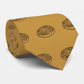 Cravate de gaufre d'amants de petit déjeuner