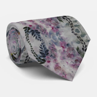 Cravate de glycines d'aquarelle