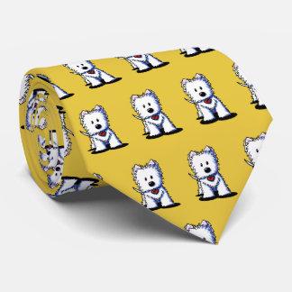 Cravate de KiniArt Westie Terrier