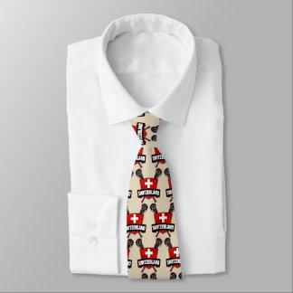 Cravate de logo de lacrosse de la Suisse de Suisse
