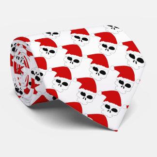 Cravate de Noël/crânes de Père Noël