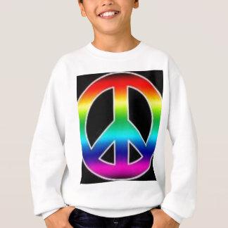 cravate de paix sur toute la surface sweatshirt