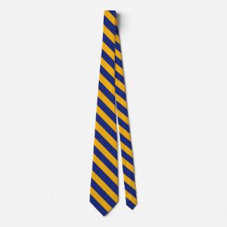 Cravate de rayure d'université de bleu et d'or