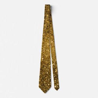 Cravate de scintillement d'or