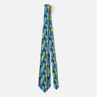 Cravate de style des années 1960 de vert de bleu