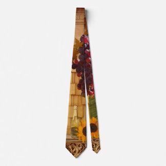 Cravate de thème de vignoble ou de vin