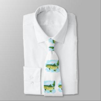 Cravate de truite d'aquarelle