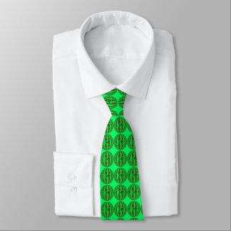 Cravate de vert de globe