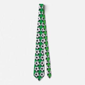 Cravate de vert de motif d'art de ballon de