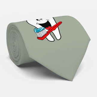 Cravate Dent propre heureuse