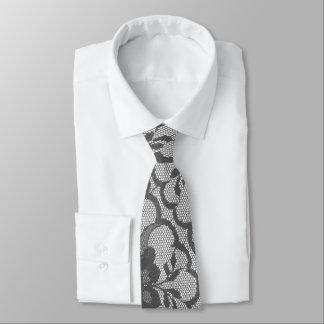 Cravate Dentelle argentée royale élégante de blanc gris de