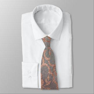 Cravate Dentelle royale moderne Teal de poudre d'or de