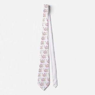 Cravate Dessin fleurissant d'illustration de pot de thé