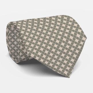 Cravate Diamant beige et bronzage