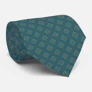 Cravate Diamant turquoise et rouge