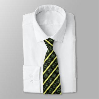 Cravate Diamant vert barré