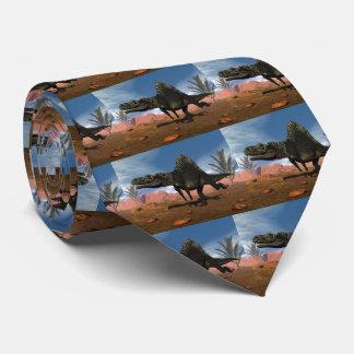 Cravate Dinosaure d'Arizonasaurus dans le désert