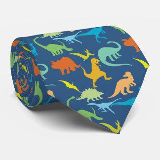 Cravate Dinosaures colorés