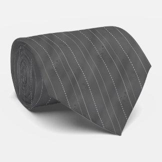 Cravate Double rayé (le DK. Gris)