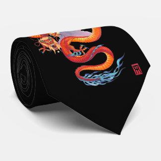 Cravate Dragon rouge chinois