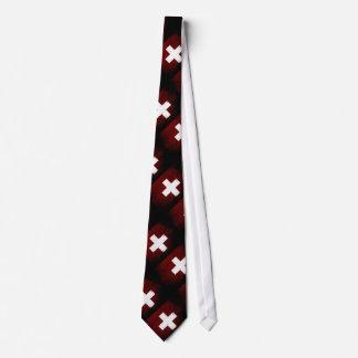 Cravate Drapeau grunge noir de la Suisse