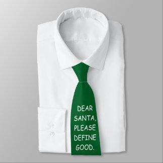 Cravate drôle de Noël : Cher Père Noël satisfont