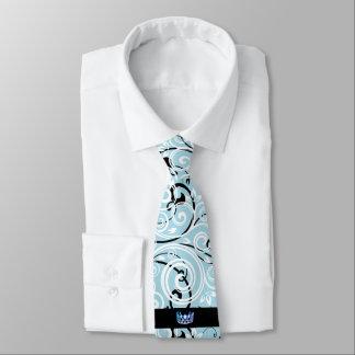 Cravate du Flourish des hommes bleus de couronne