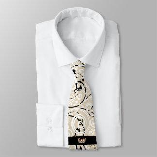 Cravate du Flourish des hommes de couronne d'or de