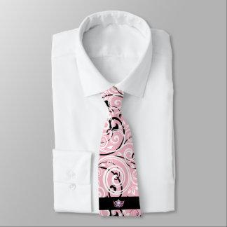 Cravate du Flourish des hommes roses de couronne