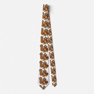 Cravate Écureuil de bande dessinée avec l'écrou