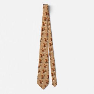 Cravate Écureuils mignons d'aquarelle, humour animal