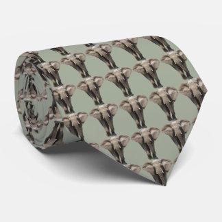 Cravate Éléphants sur le vert