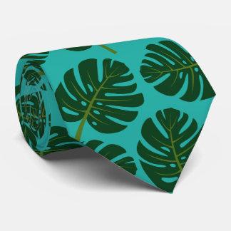 Cravate en feuille de palmier tropical