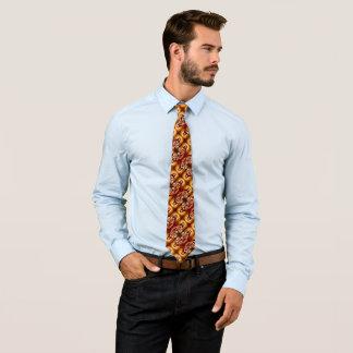 Cravate en soie de motif de Foulard de héros de