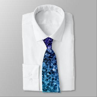 Cravate Étincelles bleues de scintillement d'Ombre de bel