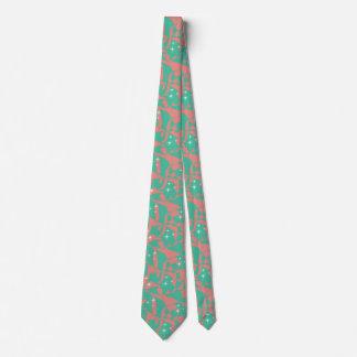Cravate Étincelles chics douces de vert de menthe de