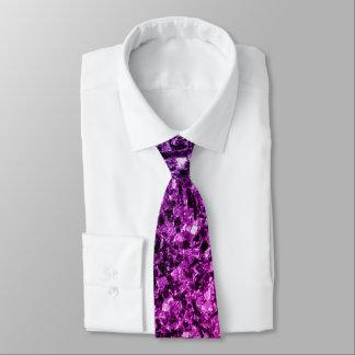 Cravate Étincelles roses pourpres de scintillement d'Ombre