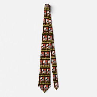 Cravate Étiquette vintage de produit, chocolat chaud russe