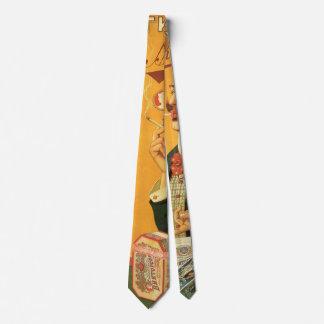 Cravate Étiquette vintage de produit, tabac de cigarette