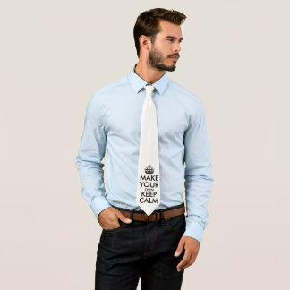Cravate Faites vos propres garder le calme