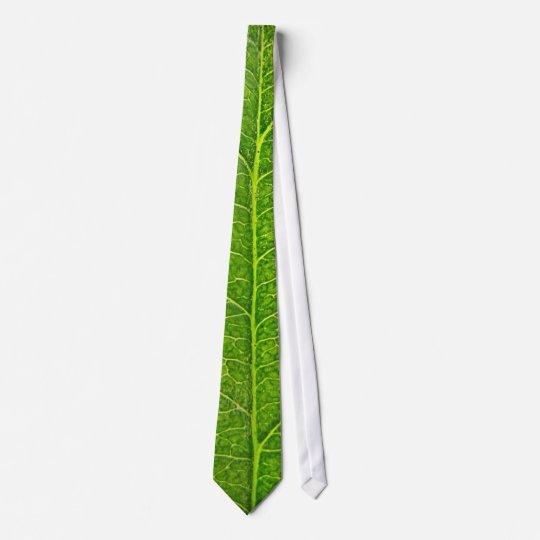 Cravate feuille verte
