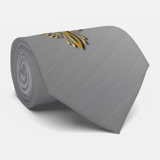 Cravate Flammes d'or en hausse d'or de Phoenix avec des