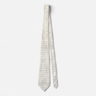 Cravate florale grise antique de feuille de