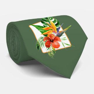 Cravate florale tropicale de mariage d'aquarelle