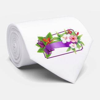 Cravate florale tropicale de mariage de papillon
