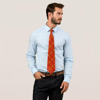Cravate Foulard en soie décoratif de poisson rouge