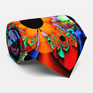 Cravate Fractale de style de tournesol double face