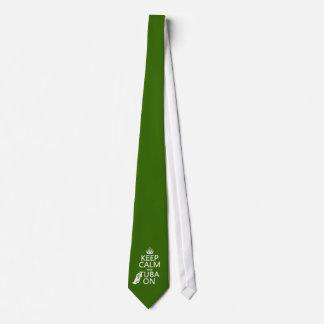 Cravate Gardez le calme et le tuba sur (toute couleur
