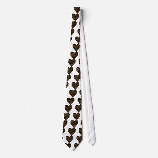 Cravate GH de tigre de Brown de loutre